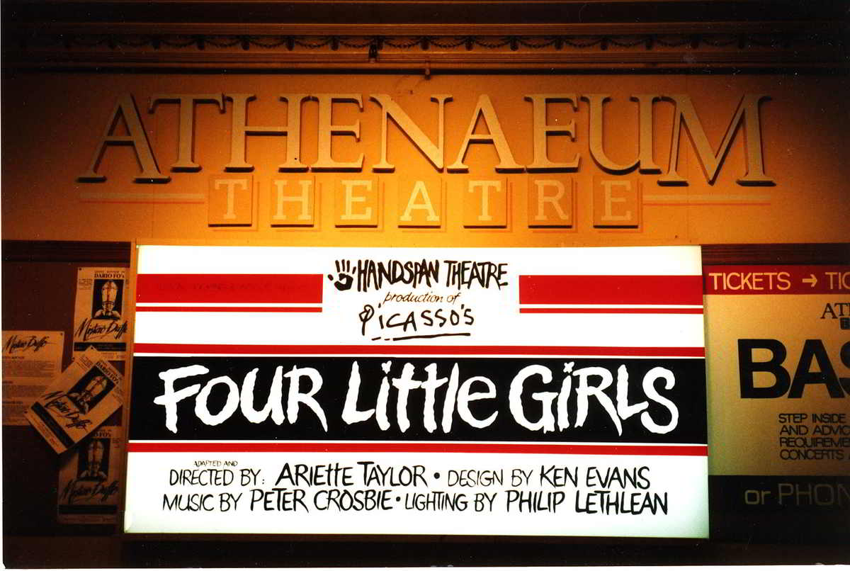 Handspan Theatre Four Little Girls billboard Melbourne Athenaeum Theatre