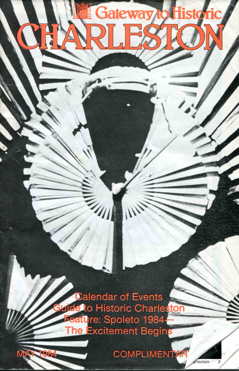 Secrets Handspan Theatre black and white program cover Charleston 1984