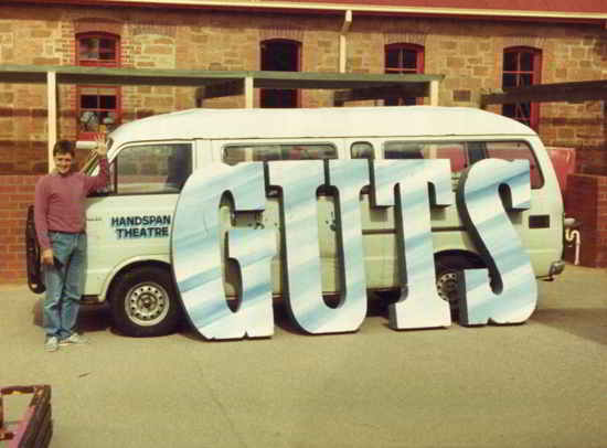 handspan van on tour with GUTS sign