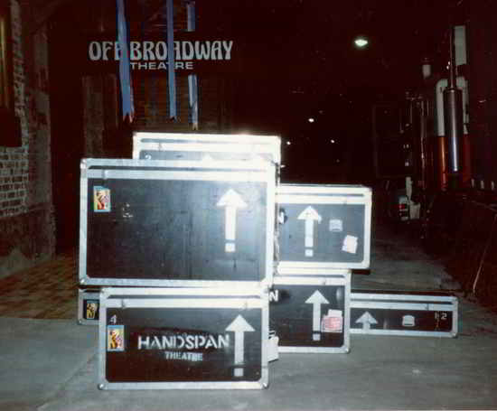 roadcases stacked backstage