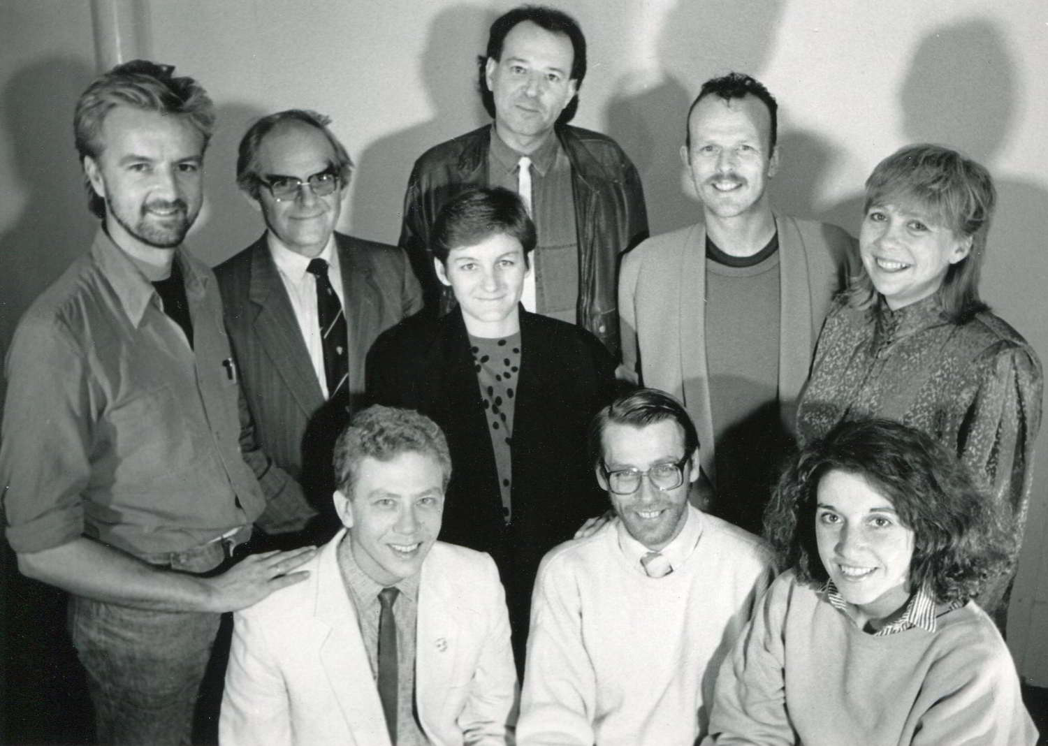 Handspan Theatre Board 1987 portrait of people in a group