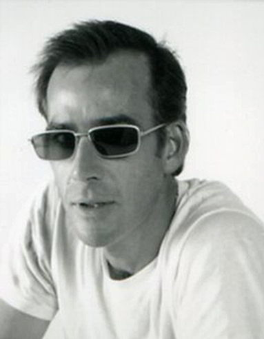 Handspan Theatre Hugh Wayland black & white portrait man in sunglasses
