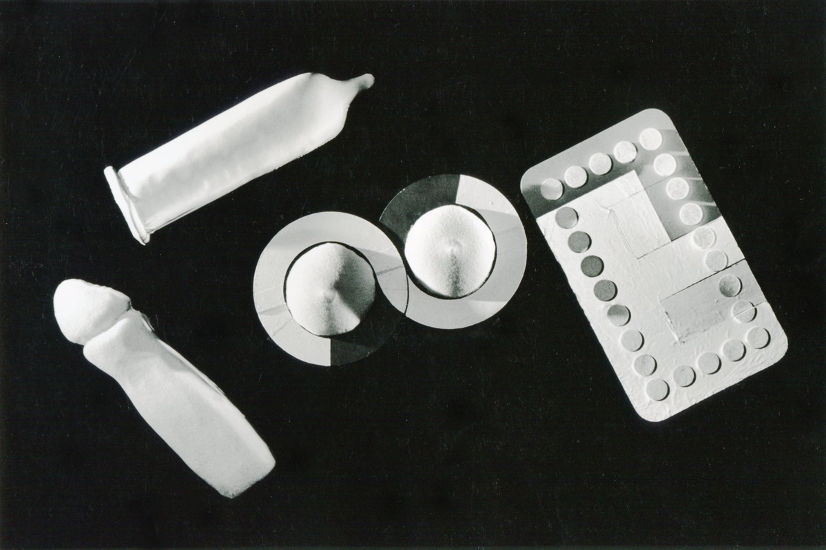 Handspan Theatre We Repeat Ourselves black and white picture baby bottles, merangues and domino objects